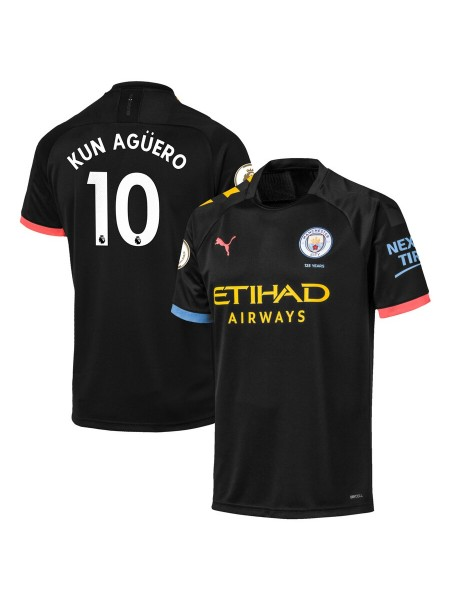 Детская футбольная форма Манчестер Сити KUN AGÜERO 10 выездная 2019-2020