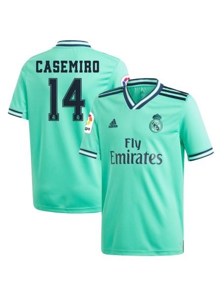 Детская футбольная форма Реал Мадрид  CASEMIRO 14 резервная 2019-2020