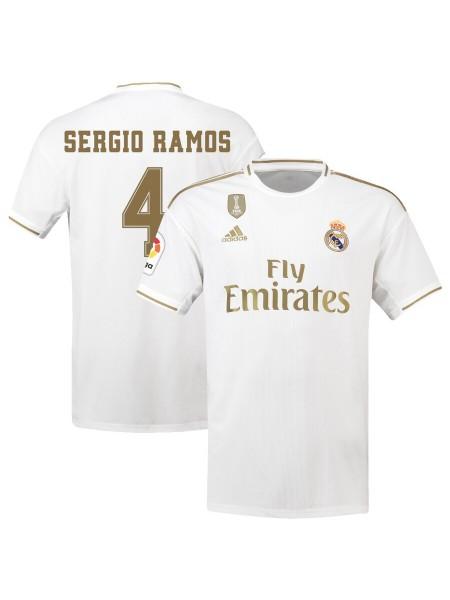Детская футбольная форма Реал Мадрид SERGIO RAMOS 4  домашняя 2019-2020
