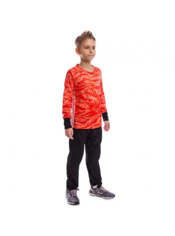 купить Детская вратарская футбольная форма камуфляж красная