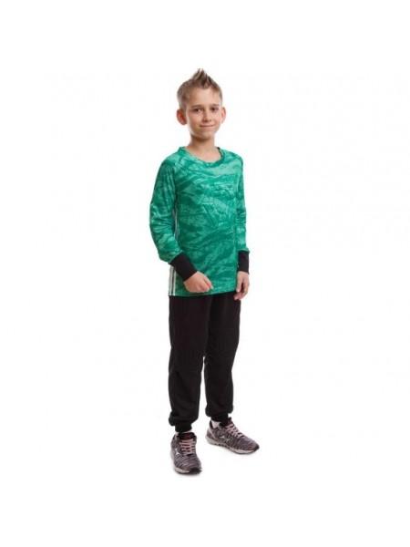 Детская вратарская футбольная форма камуфляж зеленая