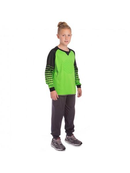 Детская вратарская футбольная форма  зеленая