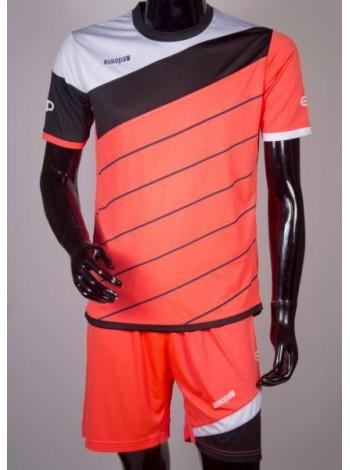 купить Детская футбольная форма Europaw 1008 кораллово-черный