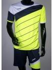 купить Детская футбольная форма Europaw 1008 салатово-т.синяя