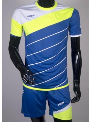 купить Детская футбольная форма Europaw 1008 сине-салатовая