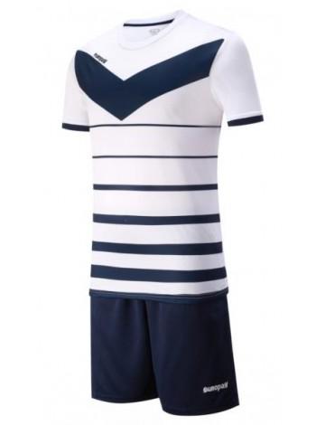 купить Детская футбольная форма Europaw 1014 бело-т.синяя