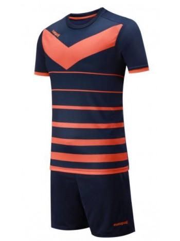 купить Детская футбольная форма Europaw 1014 т.сине-оранжевая