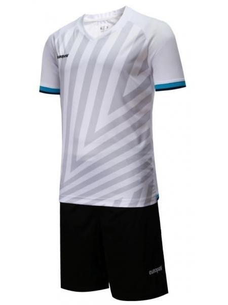 Детская футбольная форма Europaw 1016 бело-черная
