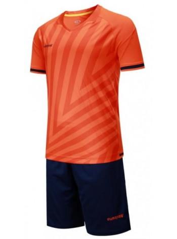 купить Детская футбольная форма Europaw 1016 кораллово-т.синяя