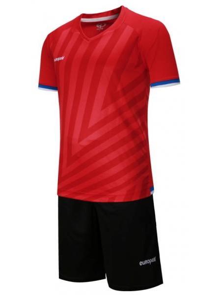 Детская футбольная форма Europaw 1016 красно-черная