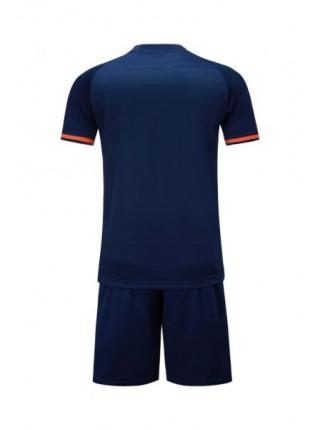 Детская футбольная форма Europaw 1016 т.сине-оранжевая