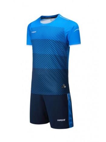 купить Футбольная форма Europaw 1017 голубо-т.синяя