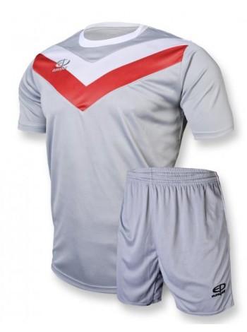 купить Футбольная форма Europaw 1004 серо-красная
