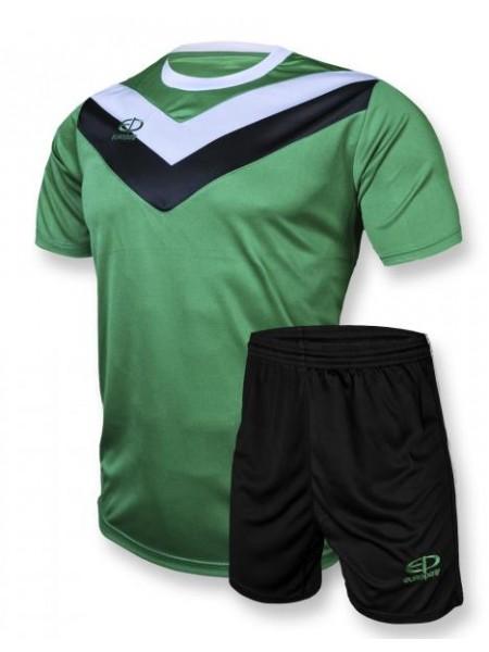 Детская футбольная форма Europaw 1004 зелено-черная