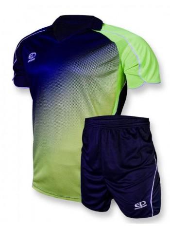 купить Детская футбольная форма Europaw 1007-17 сине-салатовая