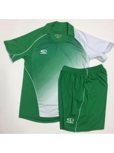 Детская футбольная форма Europaw 1007-17 бело-зеленая