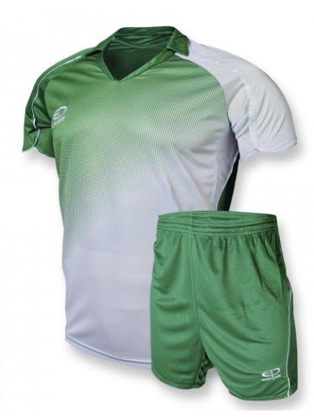 Детская футбольная форма Europaw 1007 зелено-белая