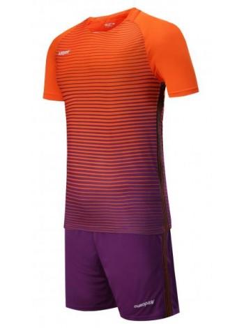 купить Детская футбольная форма Europaw 1013 оранжево-фиолетовая