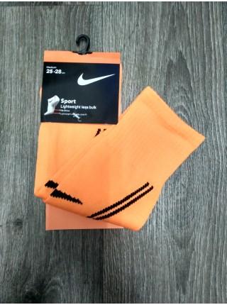 Детские футбольные гетры Найк оранжевые