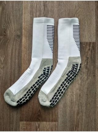 Футбольные носки тренировочные ZhongXinQiu длинные белые