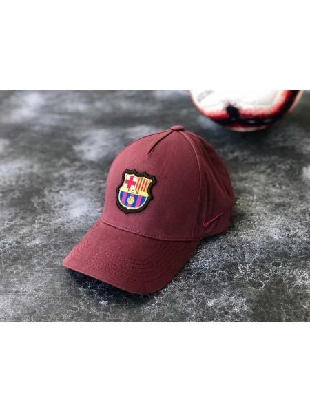Кепка / Бейсболка Барселона бордовая 2020