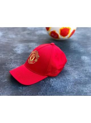 Кепка / Бейсболка Манчестер Юнайтед красная 2020