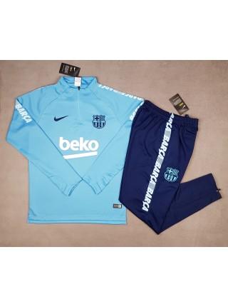 Детский тренировочный костюм Барселона бирюзовый 2018-2019