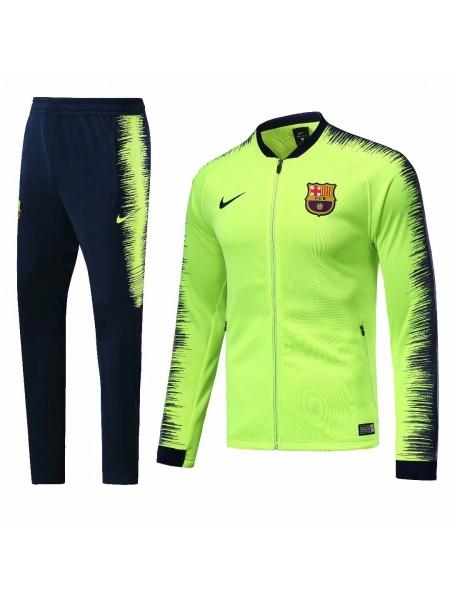 Тренировочный костюм Барселона салатовый 2018-2019