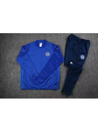 Тренировочный костюм Челси синий 2017-2018