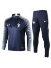 купить Тренировочный костюм Франция темно-синий 2018-2019