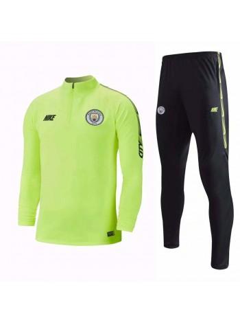 купить Тренировочный костюм Манчестер Сити салатовый 2018-2019