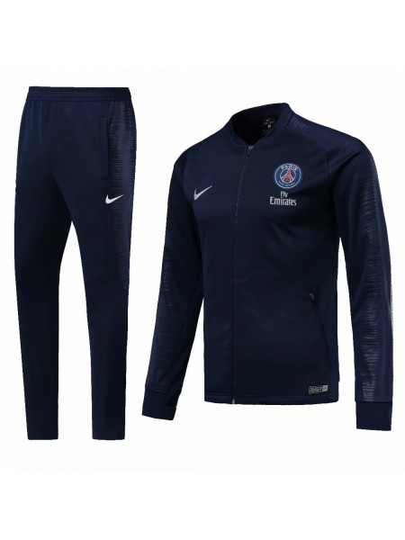 Тренировочный костюм ПСЖ темно-синий 2018-2019