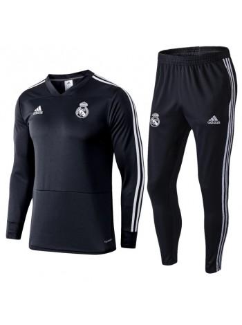 купить Тренировочный костюм Реал Мадрид черный 2018-2019