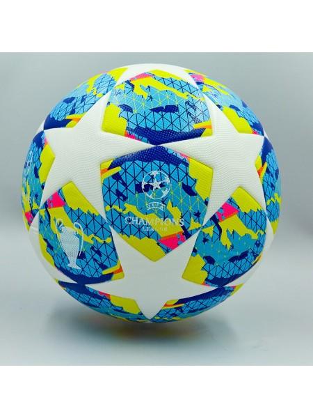 Футбольный мяч Лиги Чемпионов  2019-2020 бело-голубой