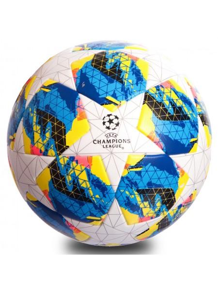 Футбольный мяч Лиги Чемпионов  2019-2020 бело-синий