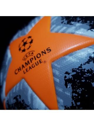 Футбольный мяч Лиги Чемпионов  2019-2020 черно-оранжевый
