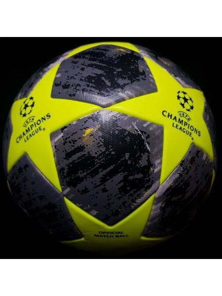 Футбольный мяч Лиги Чемпионов  2019-2020 черно-салатовый
