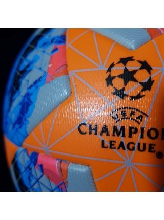 Футбольный мяч Лиги Чемпионов  2019-2020 сине-оранжевый