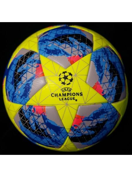 Футбольный мяч Лиги Чемпионов  2019-2020 сине-желтый