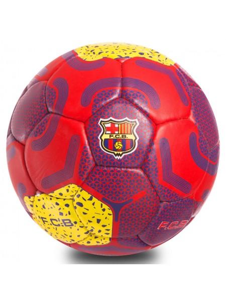Футбольный мяч Барселона красно-желтый