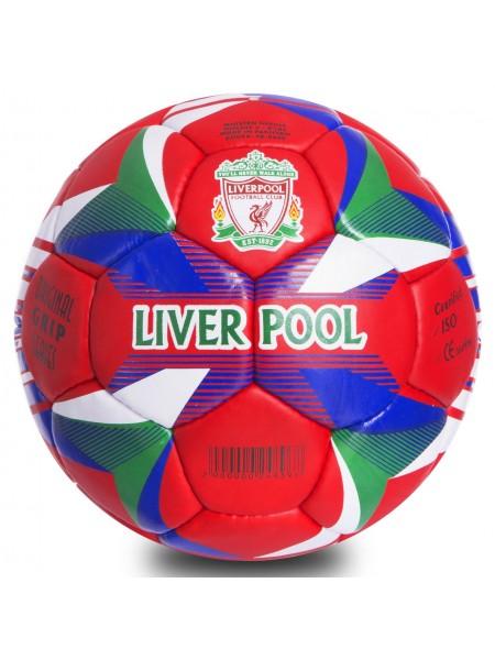 Футбольный мяч Ливерпуль красно-синий