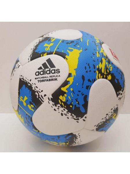 Футбольный мяч Бундеслиги бело-синий