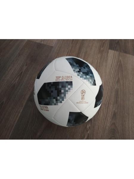 Футбольный мяч Adidas 2018 FIFA World Cup черно-белый реплика