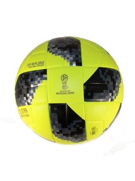 Футбольный мяч Adidas 2018 FIFA World Cup салатовый реплика