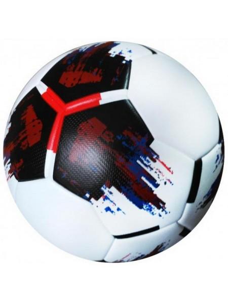 Мяч футбольный OMB Ball бело-черно-красный размер 5