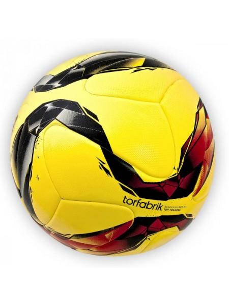 Футбольный мяч Torfabrik желтый клеенный