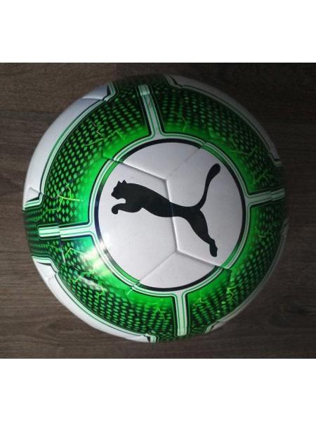 Профессиональный мяч футбольный Puma EvoPower 5.3 FIFA (Оригинал) бело-зеленый