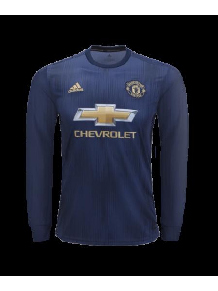 Футбольная форма Манчестер Юнайтед резервная 2018-2019 длинный рукав
