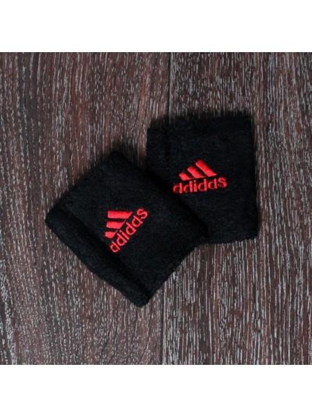 Напульсник Adidas черно-красный