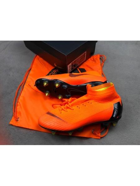 Бутсы Mercurial Superfly VI 360 Elite Anti-Clog SG-PRO оранжевые